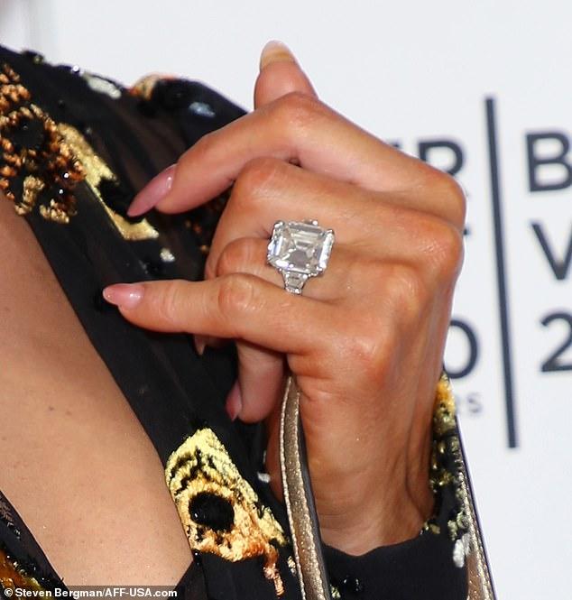 The Rock: Paris Hilton shows off her massive engagement ring