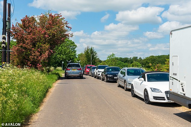 Chadlington residents were left horrified as large queues formed on the usually quiet country roads in the idyllic Cotswolds countryside