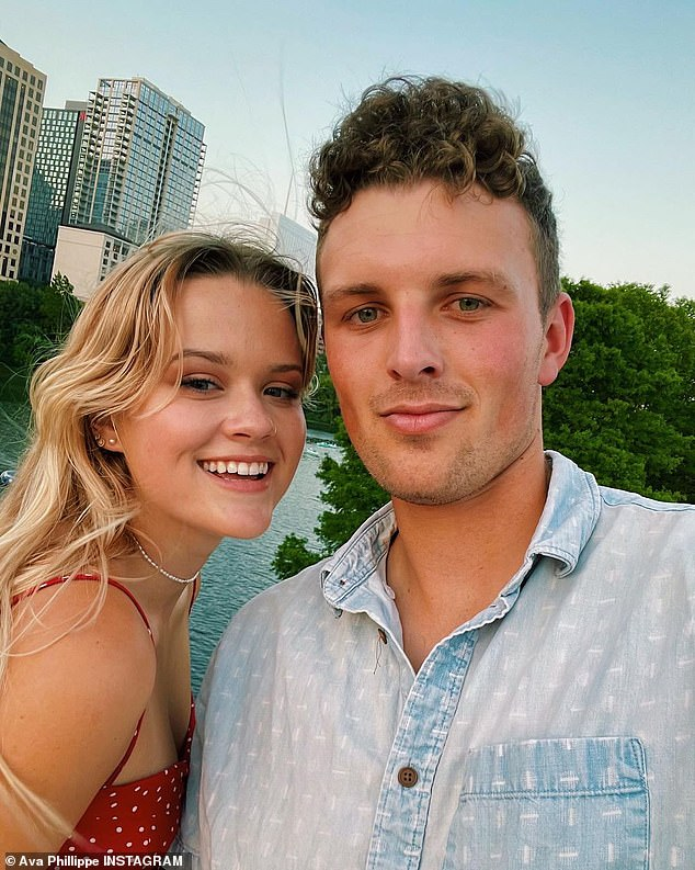 Just like her parents: Ava sent fans into a frenzy in June after posting a selfie with her boyfriend, who many believe resembles her father Ryan Phillippe