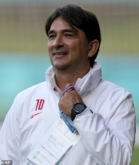 Croatia coach Zlatko Dalic (left) admits his squad has been gripped by Covid anxiety