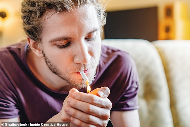 Among those subjects who had not experienced major depressive episodes, suicidal thoughts were reported by 13.9 per cent of women with cannabis use disorder vs 3.5 percent without — compared to 9.9 vs. 3.0 per cent of men (stock image)