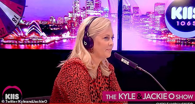 Having her say: After brushing off a question about their rivalry on The Kyle and Jackie O Show (pictured), Sam tweeted: 'Look, I'm out. Nat's wanted the job forever... and she's finally got it. She just needs to get on and enjoy it - and forget about me (even though I'm unforgettable)'