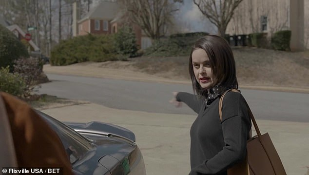 Trash:Another shot shows Karen going out to meet Malik in their driveway, introducing herself and then saying he needs to be, 'taking your trash cans off the curb right when the trash is picked up'