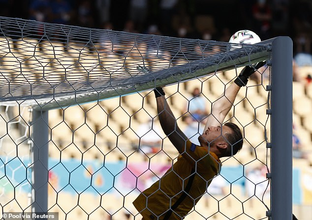 Martin Dubravka scored a comical own goal in Slovakia's crucial Euro 2020 tie with Spain