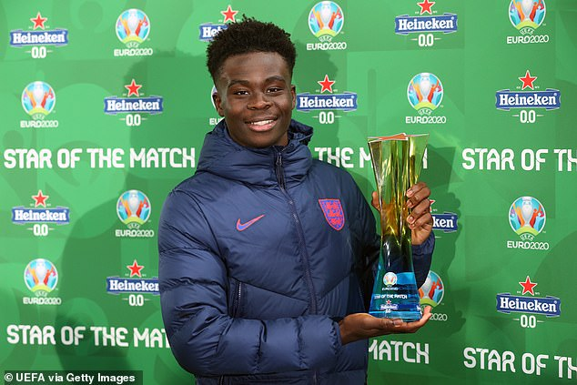 Bukayo Saka showcased his talent as he starred in England's win over the Czech Republic