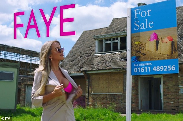 While letting manager Faye Winter, 26, strips down to a skimpy pink bikini while pretending to conduct a house viewing.