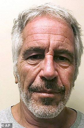 Epstein, pictured,died by suicide in a federal jail cell in New York City