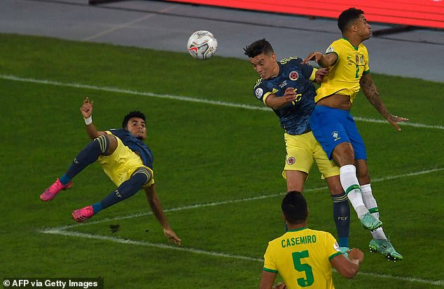 Luis Diaz had fired Colombia into the lead with a stunning acrobatic kick against Brazil