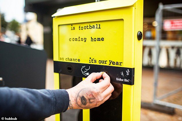 Is football coming home? Hubbub is rolling out ballot bins acrossBournemouth, Christchurch and Poole that let you have your say on current topics, including Euro 2020