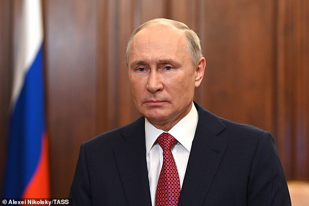 Putin's regime is currently under western sanctions over the annexation of Crimea, the poisoning of critic Alexei Navalny, and other human rights abuses
