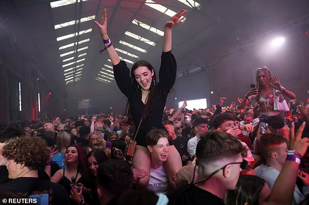 People have non-socially distanced fun at a rave in Liverpool as part of the programme.Data published by local public health officials in Liverpool showed just 0.07 per cent of the more than 13,000 attendees across three events tested positive