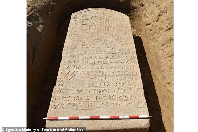 A stone tablet associated with the 6th century BC Egyptian pharaohApries was accidentally uncovered by a farmer in northeast Egypt