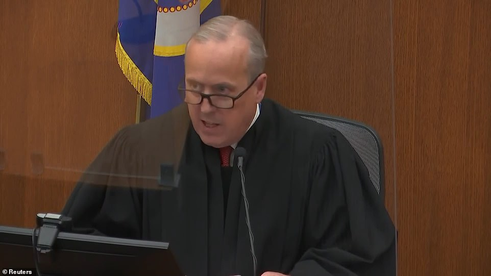 'This is based on your abuse of your position of trust and authority and also the particular cruelty shown to George Floyd,' Judge Cahill said
