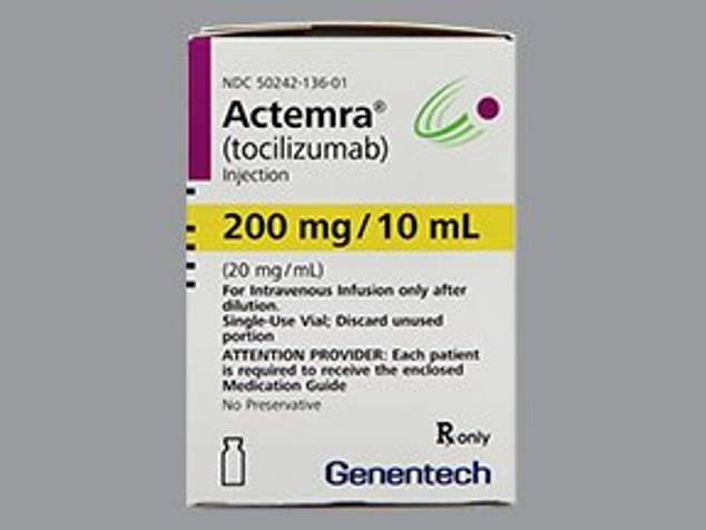 On Thursday, the FDA approved tocilizumab, sold under the brand name Actemra (above), which is manufactured by Roche, to treat COVID-19 patients