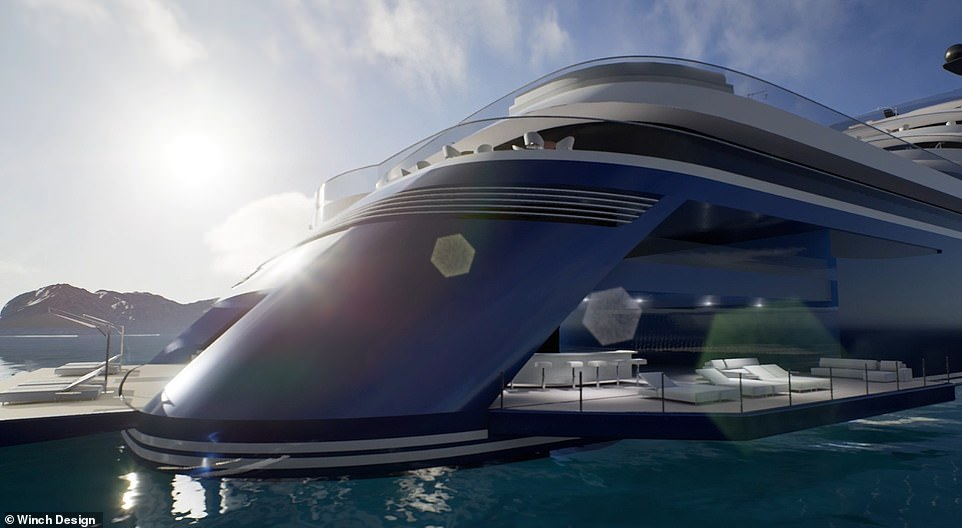 """A statement for the unveiling of Somnio says: 'Somnio is the world's first """"yacht liner"""", conceived to provide all the benefits of superyacht ownership and finished to the highest possible standards, with onboard amenities reflecting the service and offering only found in the world's finest hotels'"""