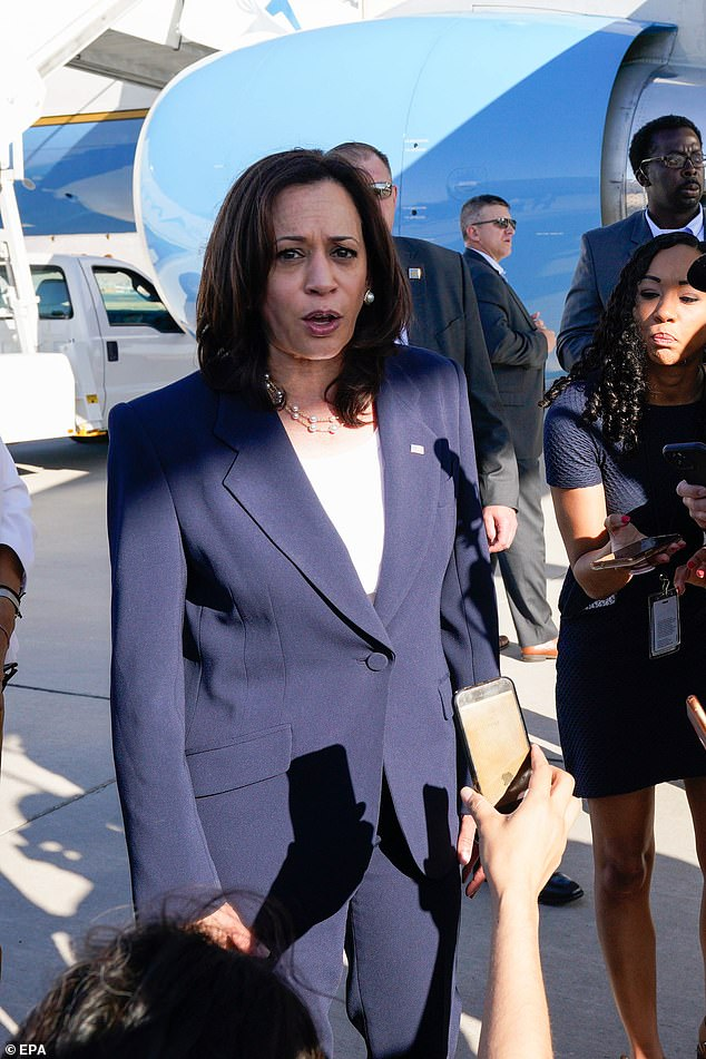 KamalaHarris was visiting the southern border in El Paso for the first time after immense pressure from Republican lawmakers to do so