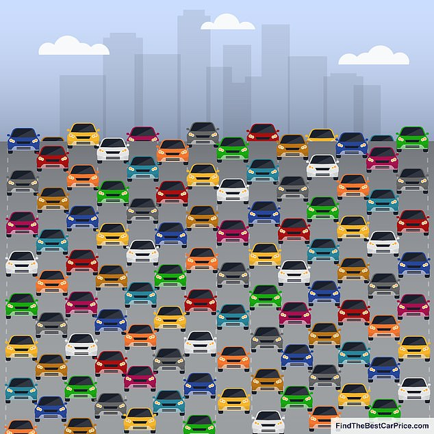 A tricky new brainteaser created by UK comparison website FindTheBestCarPrice.com challenges the nation to spot the car with the missing wing mirror parked with the other models