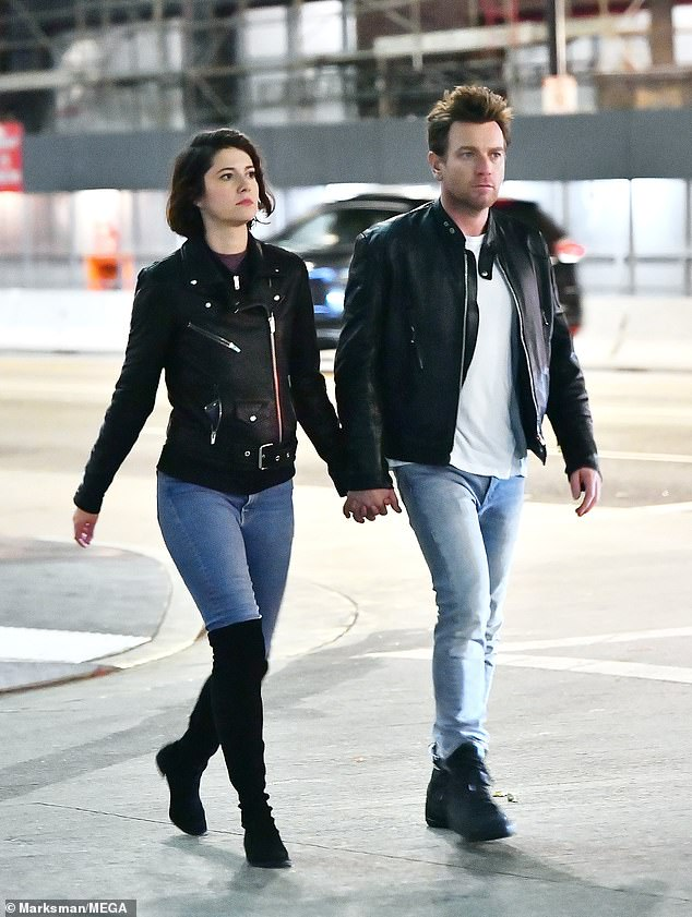 Relationship:Ewan and Mary Elizabeth have been together since 2017 after they met on the set of Fargo (pictured in 2017)