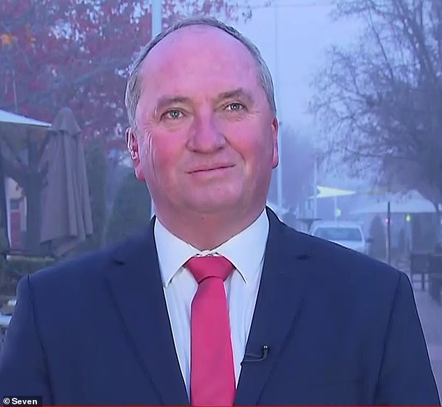 Barr tried to question Deputy PM BarnabyJoyce about the vaccine rollout but he seemed more interested in banter with Mr Fitzgibbons about Queensland losing to NSW in State of Origin