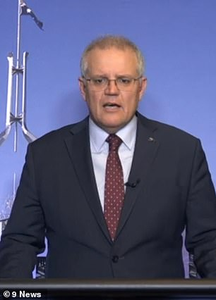 Prime Minister Scott Morrison (pictured on Monday night) is under fire