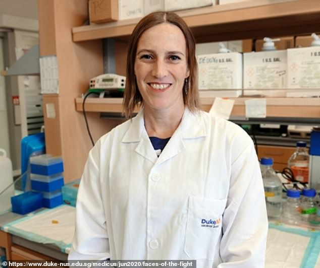 Australian scientist Danielle Anderson (pictured)said she did not see anything 'strange' at the Wuhan Institute of Virology but admits she is 'not naive enough' to dismiss the speculation