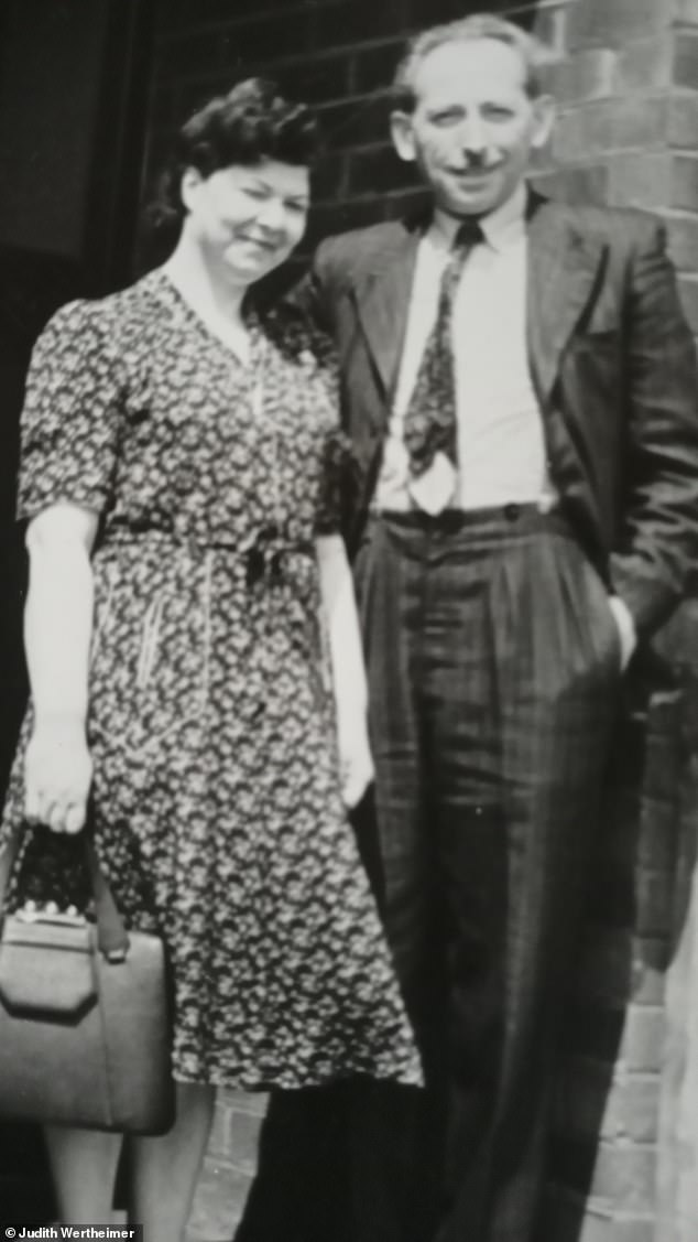 Pictured: Helemn with her husband Henry on the day of their wedding in Manchester in 1948. Both lost a spouse and a child during the war