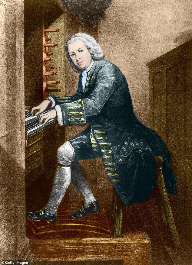 The works of the Baroque composer Johann Sebastian Bach are used by advertisers to provide 'a sound of reassurance' in television commercials, research has claimed. Pictured: J. S. Bach at the organ, as depicted in this painting by an unknown artist from 1725