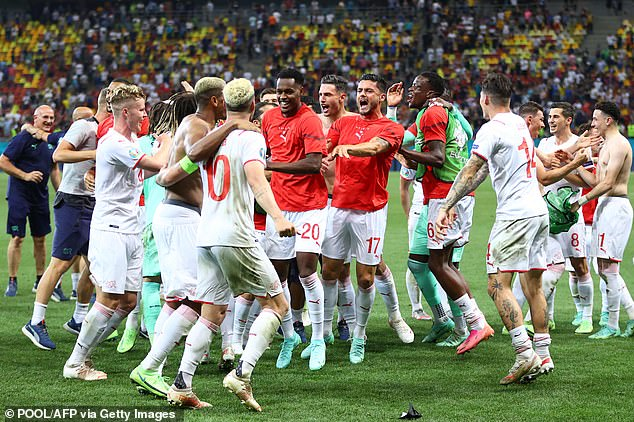 It's the first time Switzerland have beaten France in a competitive game and they will now play Spain in their first major tournament quarter-final since 1954
