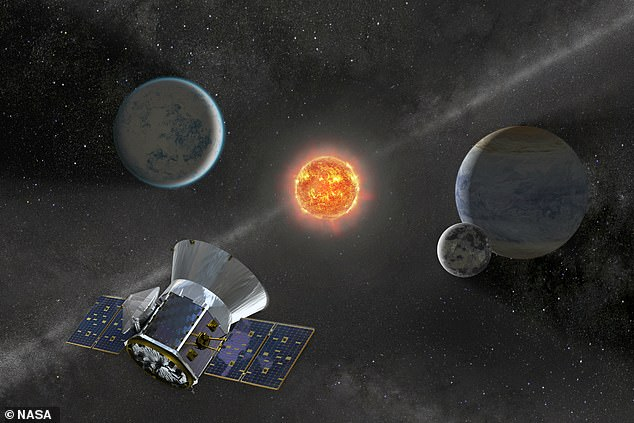 The researchers also looked at how far apart the stars are in the binary systems and noted that stars with planets were 'typically farther apart' than those systems that don't have a planet