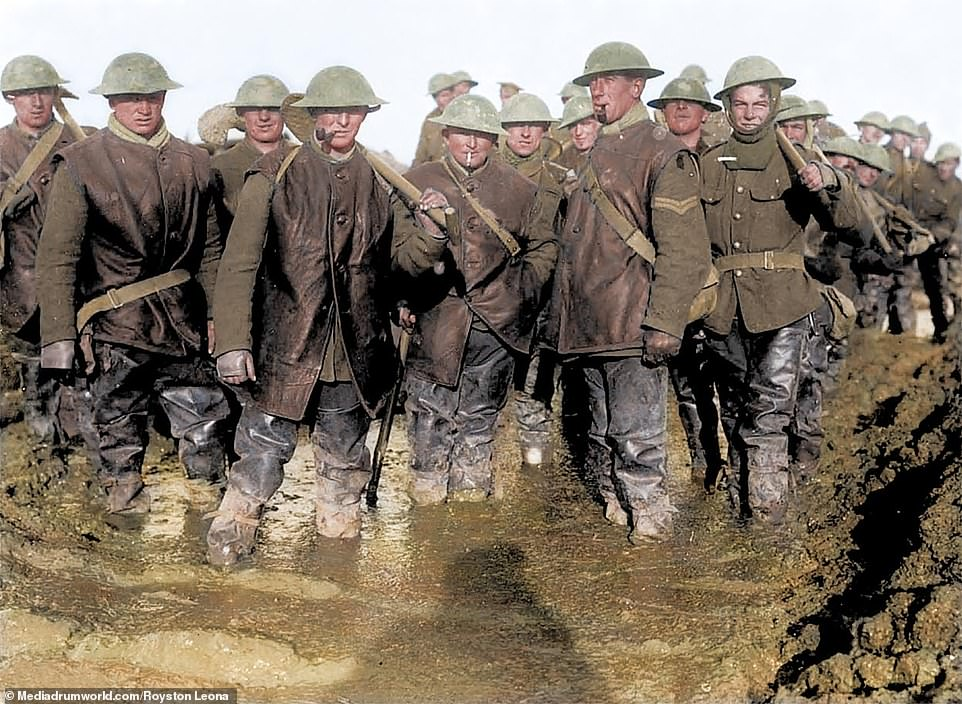 Troops in the mud at the Battle of the Somme. Though the Battle of Passchendael, officially known as the Third Battle of Ypres, is remembered for its horrific weather and mud, the Somme was also horrendously wet throughout much of the fighting, making the conditions even more hellish for the men as they suffered interminable bombardments