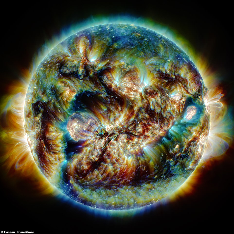 The Sun, our nearest star, is an energetic ball of plasma, but sometimes its sheer power can be easy to forget from a cloudy UK, but this image, named The Tumult of the Sun, was taken by Hassan Hatami and shows just how intense it really can be
