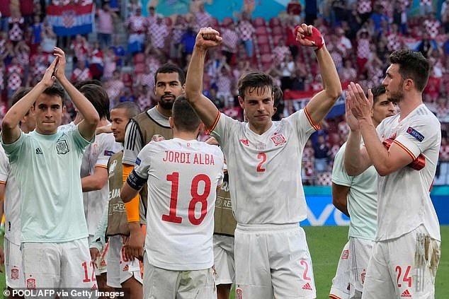 Spain will play Switzerland in the quarter-finals after finding a way past Croatia