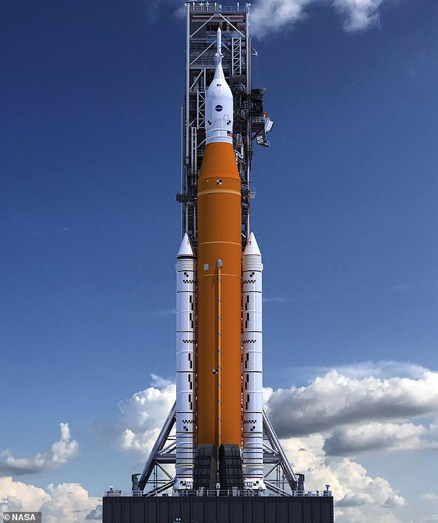 Artemis I on Mobile Launcher (artist concept). Theuncrewed test flight is due for launchon November 22 this year