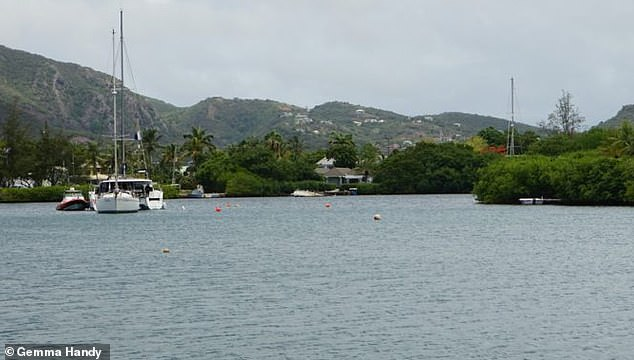 The wreck in Antigua's English Harbour is marked off by a series of orange buoys