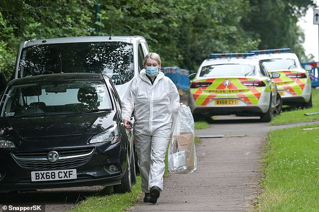 Paramedics discovered the bodies after 999 crews were called to tree-lined Kenilworth Road - one of the West Midlands most sought after spots - yesterday afternoon