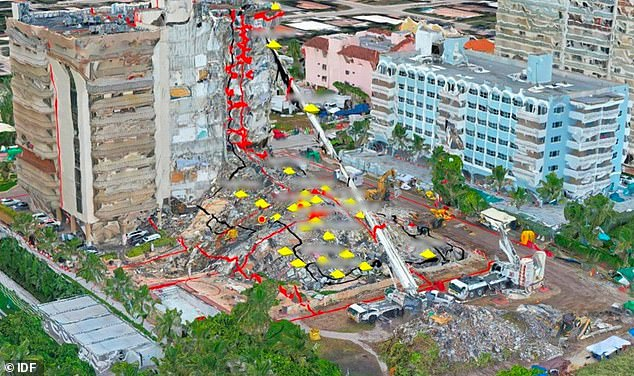 The map is designed to help rescuers better identify areas where there may be survivors