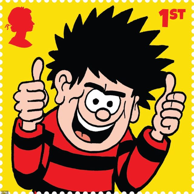 Dennis the Menace is being celebrated on Royal Mail stamps as the iconic Beano character has been a favourite of British children since 1951