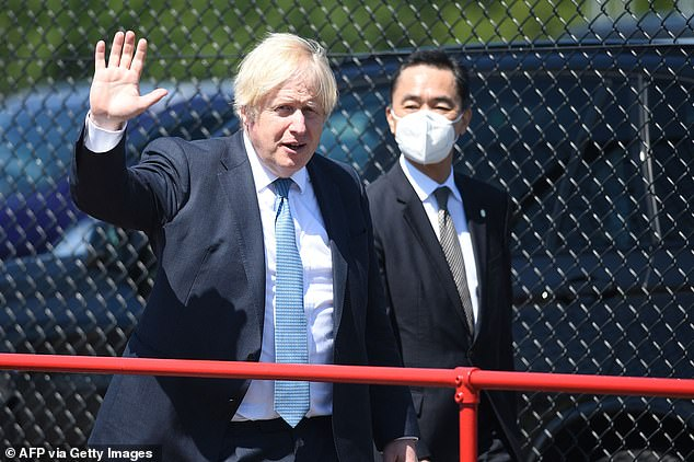 It comes despite Cabinet ministers shooting down calls for the Government to also stop publishing daily Covid cases. Pictured: Boris Johnson arrives at Nissan's plant in Sunderland