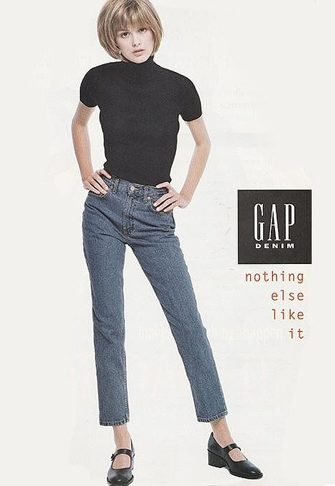 Classic '90s: Trish Goff stars in this advert from Gap in the 1990s