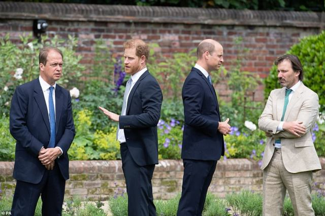 The brothers are said to have barely spoken and have an 'incredibly strained' relationship after two years of rows over Harry's wife and her alleged treatment of staff
