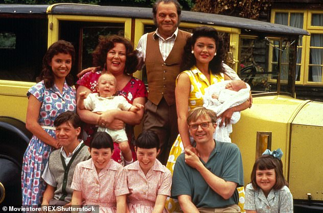 Original cast: The popular Nineties family drama, which was set in 50s,followed Pop Laarkin, his wife Ma and their children in all their antics (pictured the original cast)
