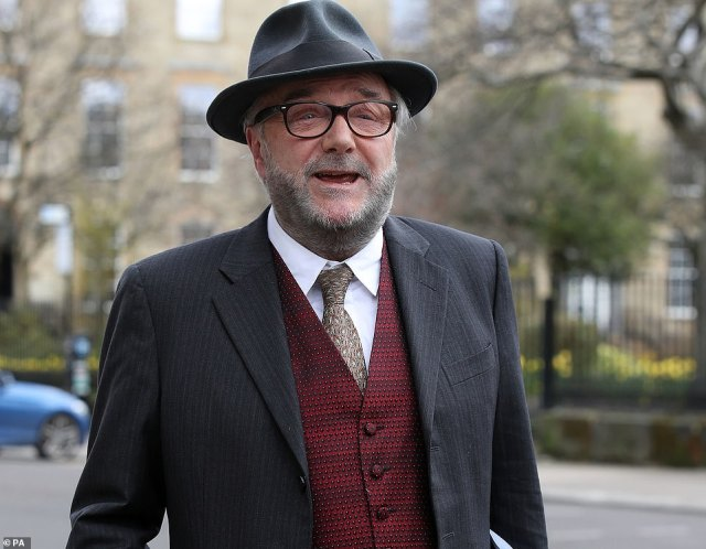Former MP and veteran campaigner George Galloway, who has been targeting Labour's traditional Asian and white working-class coalition in an explicit attempt to topple Sir Keir Starmer