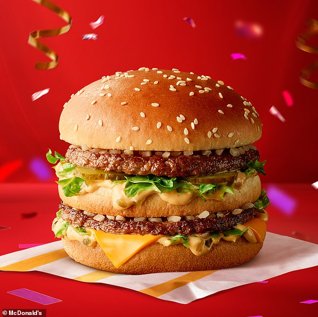 Processed meats such as sausages and bacon would be hit the hardest. A Big Mac at McDonald's (pictured) would be 20p more expensive