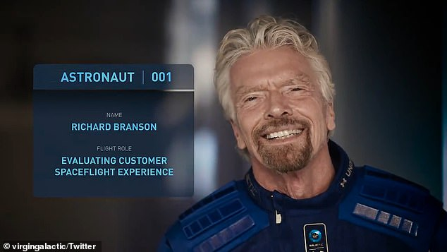 RichardBranson, Astronaut 001, will be heading to space on a July 11 Virgin Galactic spaceflight.'Pioneering it myself and extraordinary trips of a lifetime for other people in the future and for the other five people that will be aboard the spaceship with me, we're all hitting the ceiling,' he told Strahan