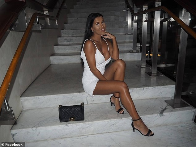 Melina Johnsen, a Norwegian influencer, appeared on the Norwegian version of Ex On The Beach in 2018 and is known for her photos with designer fashion items in luxurious locations(there is no suggestion this image has been manipulated)