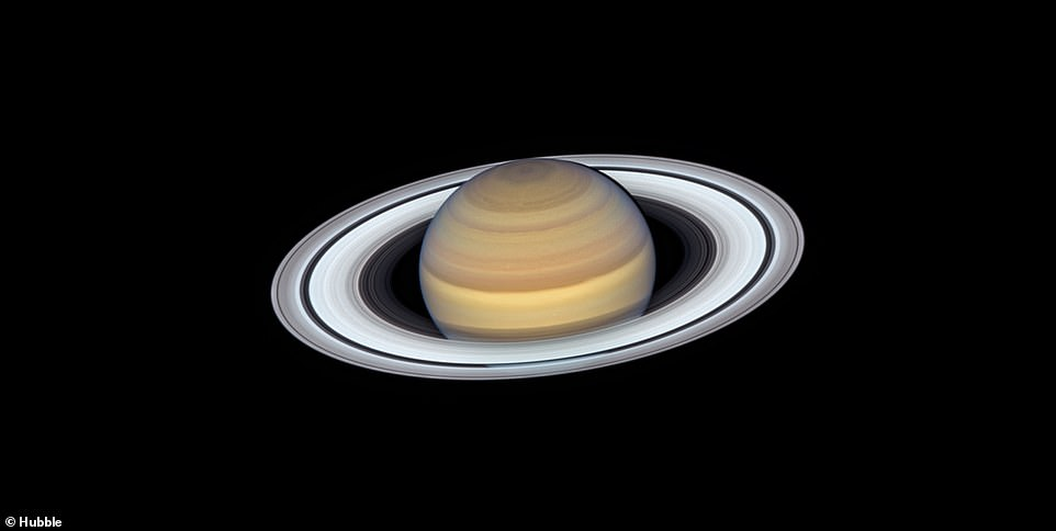 As well as images of distant galaxies and star clusters, Hubble has given us some of the best and most iconic images of planets in our own solar system including Saturn (pictured)