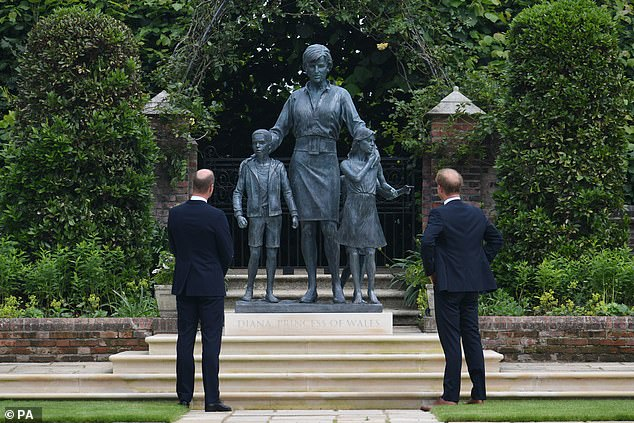 THE REALITY: The statue of Princess Diana that was unveiled in the gardens of Kensington Palace by Princes William and Harry