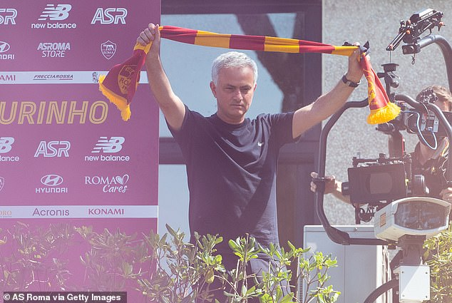 Mourinho was given a hero's welcome by Roma fans at their training ground on Friday