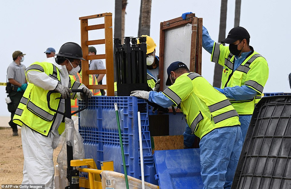 The clean-up comes as part of a program that started Monday to move the homeless from encampments to permanent housing