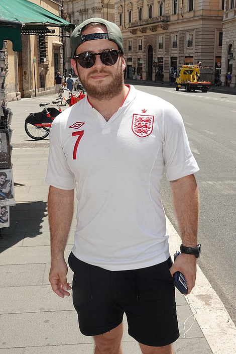 Jack Dale, from Mawenne, France, took in some sightseeing before heading to the stadium